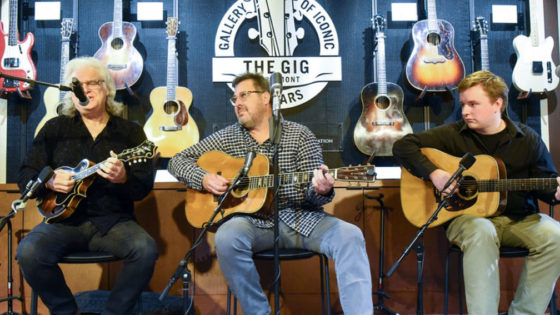 The GIG grand opening with demonstrations from Vince Gill, Ricky Skaggs and Belmont graduate student Ben Valine.